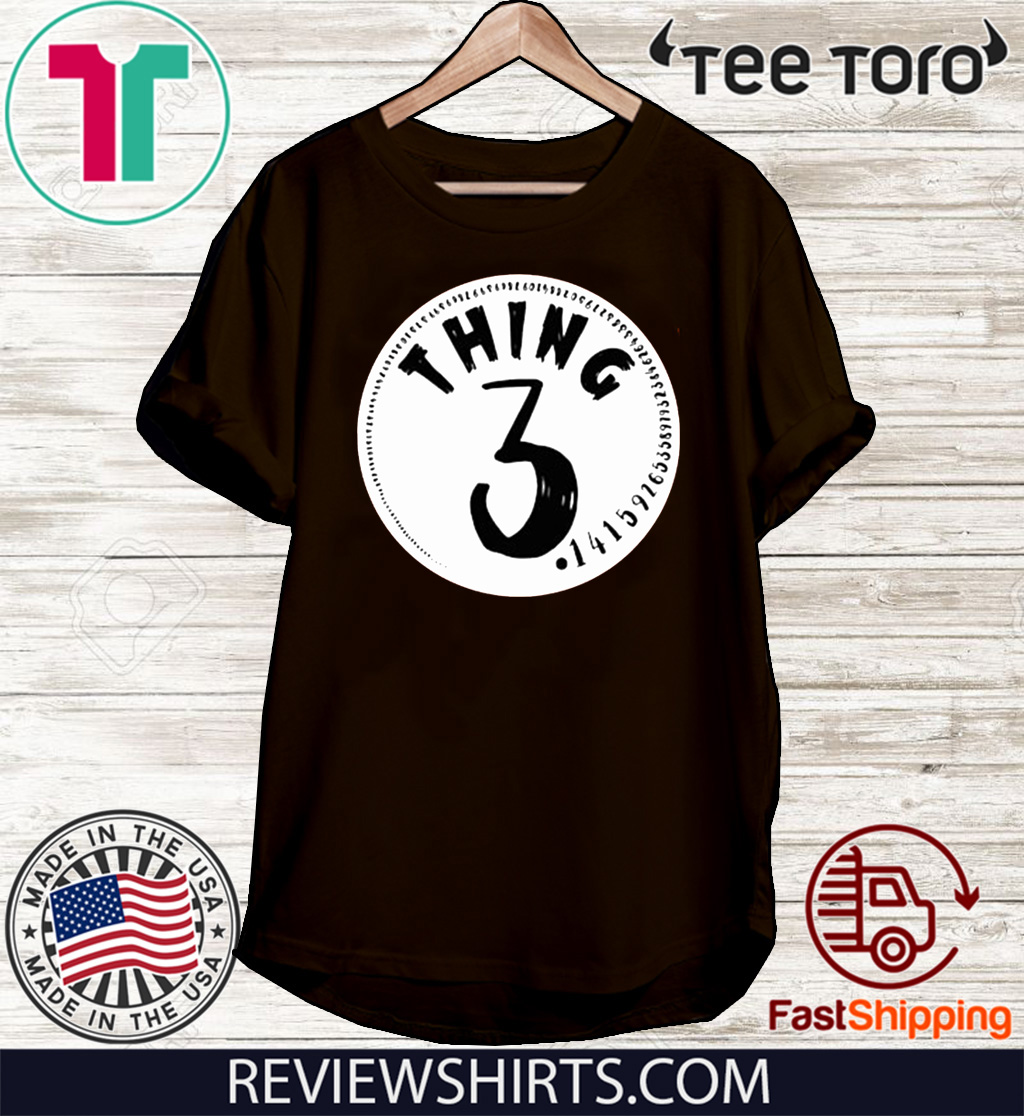 Thing Three White Unisex T-Shirt