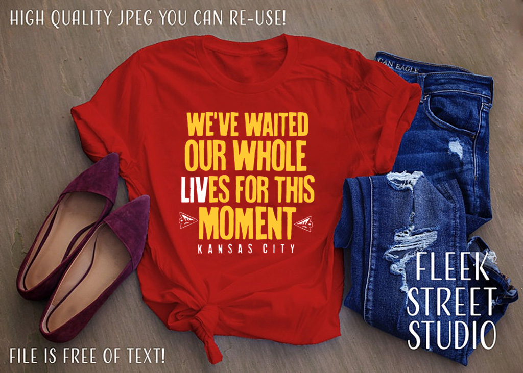 WE'VE WAITED OUR WHOLE LIVES FOR THIS MOMENT T-SHIRT