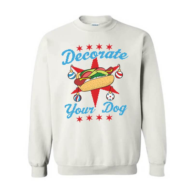 DECORATE YOUR DOG UGLY XMAS TEE SHIRT